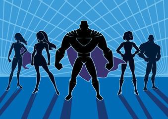 Superhero Team 2 / Team of superheroes.
