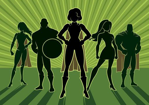 Superhero Team 3 / Team of superheroes.