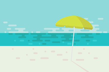 Summer beach graphic background made frome round shape