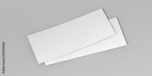 Mock up blank white template gift voucher card on the grey ...