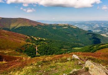Carpathian Mountain Range in late summer