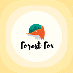 Forest Fox Vector Logo Template