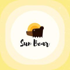 Sun Bear Vector Logo Template
