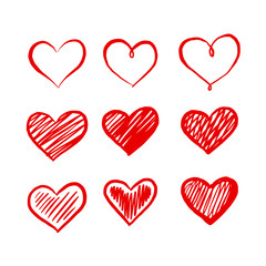 graphic red heart, vector