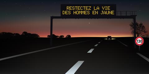 autoroute - signalisation routière - panneau -accident - service - sécurité routière