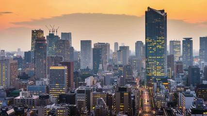 Fototapete - Tokyo, Japan Cityscape