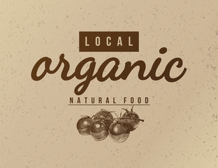 Local organic natural food background.