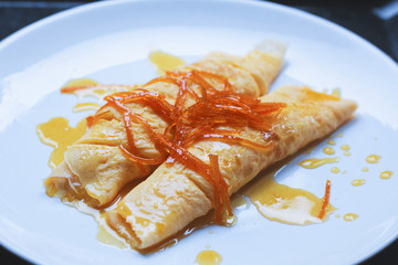 healthy glutenfree omelette with oranges