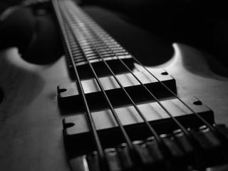 Bas guitar, close up