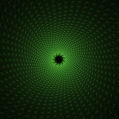 Green Whirlpool Abstract Fractal Design