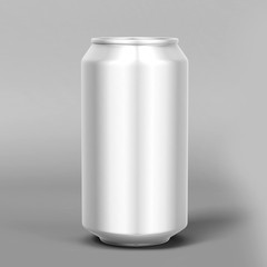 light and shiny aluminum cans for beer and soft drinks or energy. Packaging 500 and 330 ml. Object, shadow, and reflection on separate layers.