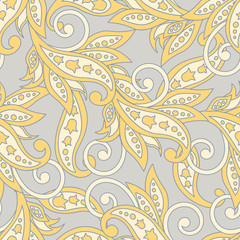 Floral seamless pattern. Colorful ethnic vector background