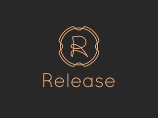 Letter R Release Alphabet Logo