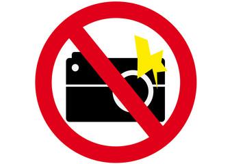 Schild Fotografieren mit Blitz verboten