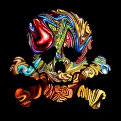 Skull art day of the dead.