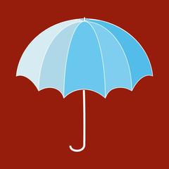 Umbrella blue sign