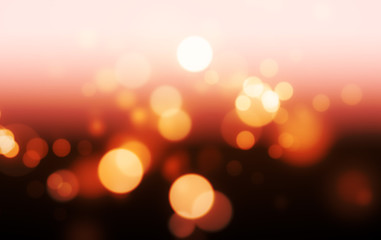 Gold Bokeh Lights on a Gradient Background