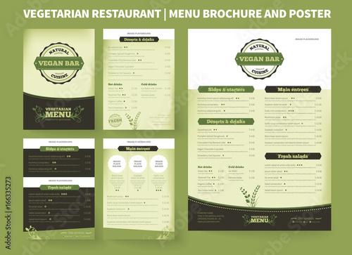 restaurant menu brochure template vector design modern cover