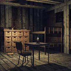 Stara opuszczona sypialnia
