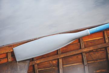 Oar or paddle in boat