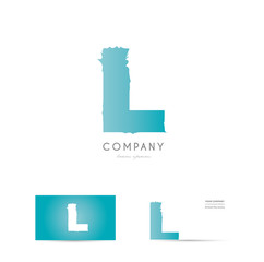 L blue letter alphabet logo vector icon design