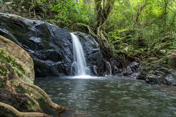 Ched Kod waterfall in rain forest at Khao Yai National park, Thailand.