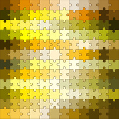 Abstract Yellow Tone Puzzle Vector Background (Can Remove All These Puzzle Pieces In EPS10)