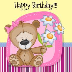 Greeting card Cute Teddy Bear