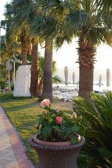 Morning on the beach in Marmaris, Turkey,