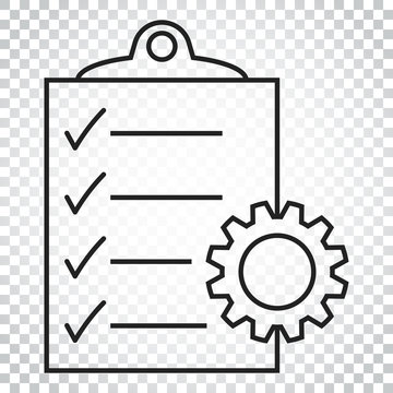 Document vector icon. Project management flat illustration. Simple business concept pictogram on isolated background.