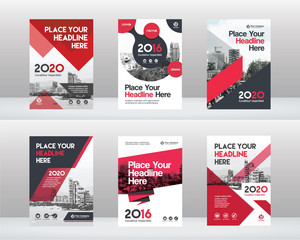 City Background Business Book Cover Design Template Set in A4. Can be adapt to Brochure, Annual Report, Magazine,Poster, Corporate Presentation, Portfolio, Flyer, Banner, Website
