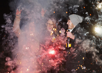 party people fire new years eve