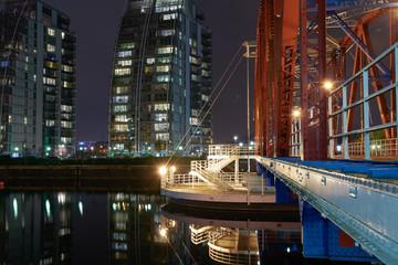 Bridge against city