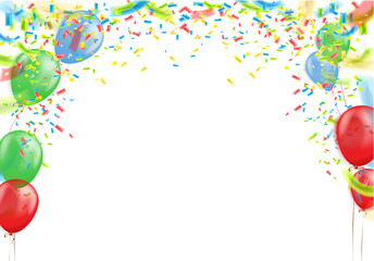 Birthday and celebration background balloons. Vector of event banners