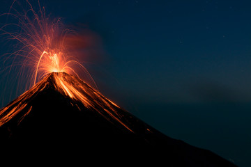 Erupting Volcano Fuego Wall mural