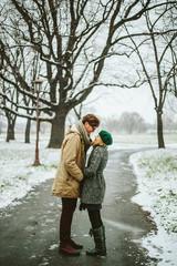 Love winter couple.