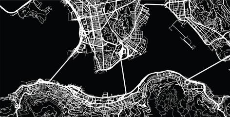 Urban city map of Hong Kong Fotomurales