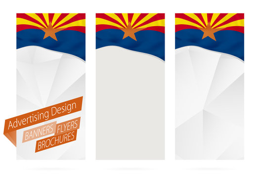 Design of banners, flyers, brochures with Arizona State Flag.