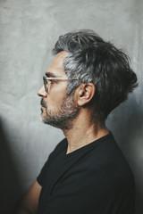 Black and grey man portrait