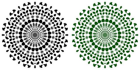 Flower Mandala, Vintage decorative elements, Foliage pattern, vector illustration,