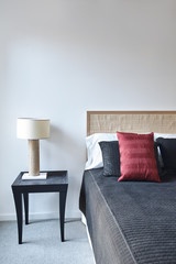 Simple bedroom in home