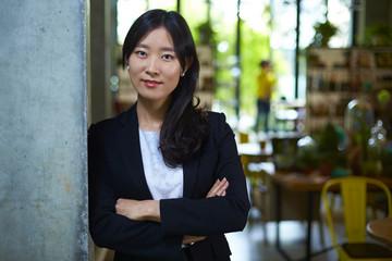 portrait of young asian businesswoman indoor