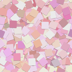 Repeating abstract geometrical square background pattern - vector graphic design from pink squares