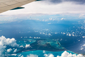 Top View of Paradise Beach, Bahamas