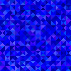 Abstract triangle mosaic background - vector graphic from triangles in blue tones