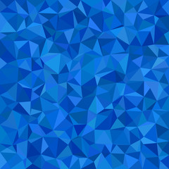 Blue triangle tile mosaic background - polygon vector illustration from triangles