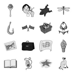 asterisk, sea, catand other web icon in monochrome styleanimal, walk, fauna. icons in set collection.