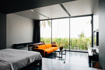 Hotel Master Bedroom With Large Window