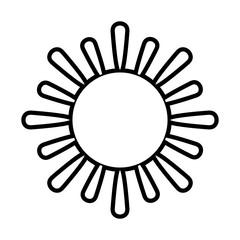 sun cartoon icon image