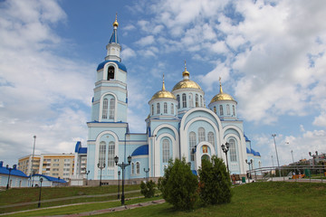 View at Temple of Kazan icon of the mother of god in Saransk, Repulic Mordovia, Russian federation